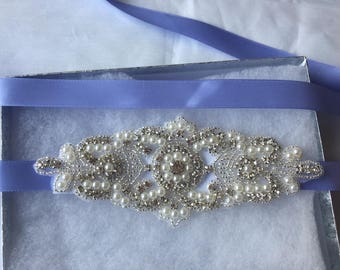 SALE BRIDAL SASH, Bridal sash, silver belt, Bridal crystal belt, Rhinestone belt, Wedding sash/belt Bridesmaid belt Dress Sash/Belt