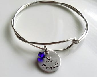 Field Hockey Bracelet, Field Hockey Gift, Team Gift, Team Jewelry, Team Bracelet,Silver Charm