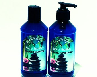 ZEN set Organic shampoo organic conditioner vegan shampoo vegan hair conditioner Zen shampoo