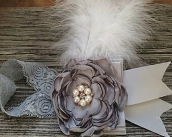 Flower Girl Headband /bridal girl headband