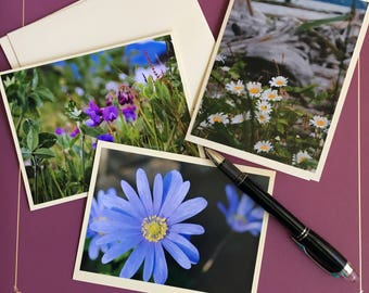 Flower Cards (3-pk blank greeting cards)