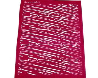 Beadcomber Silk Screen - Squiggles Silkscreen for Polymer clay, or flat surfaces such as metal, Paper Crafts and DIY