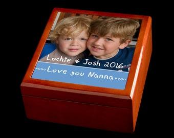 Jewellery Box, Personalised Mother's Day Jewellery Box, Photo Gift, Personalised Photo Jewellery Box, Keepsake Box,