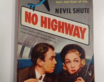 No Highway by Nevil Shute Dell Mapback #516 1948 Vintage Romance Paperback