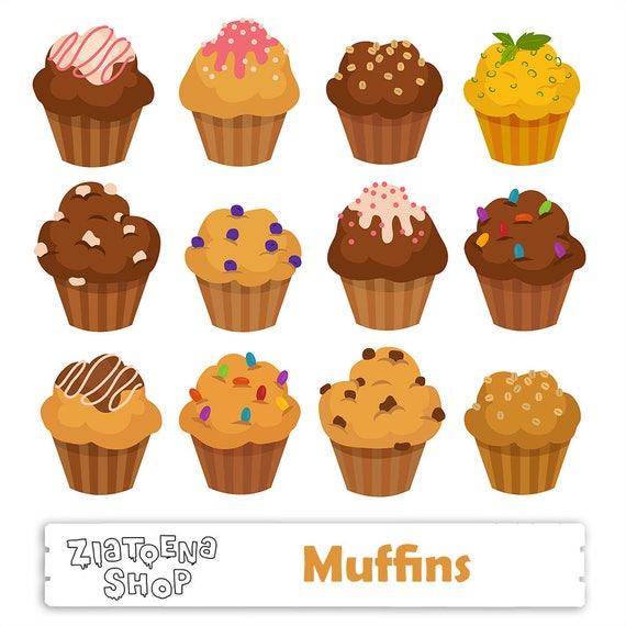 muffin clipart muffins clipart cupcake svg muffin digital rh etsy com muffin clip art free muffin clipart black and white