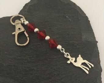 Deer bag charm / deer purse charm / deer gift / wildlife gift / animal bag charm / animal purse charm / animal lover gift
