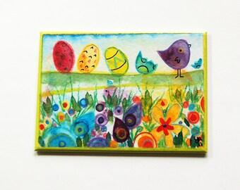 Easter Magnet, Easter Egg Magnet, Fridge magnet, Kitchen magnet, ACEO, Easter gift, Easter Basket gift, Bright colors (5409)