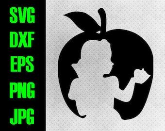 Snow White - svg, dxf, eps, png, jpg cutting files - cricut, silhouette iron on paper piecing Disney Princess poison apple Shirt Dwarf