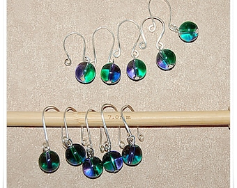 Stitch marker crochet glass beads marker for crocheting