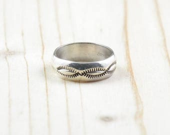 Navajo woman, ring man ring, silver ring 925, sterling, size 52, Size 6