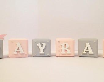 Alphabet Building Blocks - Beautiful Nursery/Bedroom Decor - item is listed as price per block