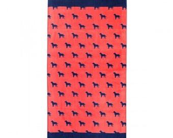 Dog Days Beach Towel, Monogrammed, Free Monogram