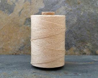 3 Ply Natural Waxed Irish Linen Thread 10 Yards WIL-37,linen crochet thread,bookbinding thread,waxed linen thread,natural linen thread