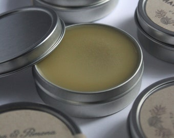 Hand Balm: organic and unscented all purpose salve   Nourishing and softening balm for lips, hands, cuticles and dry itchy skin   Eczema
