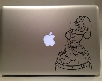 Grumpy from Snow White and the Seven Dwarves VInyl Decal