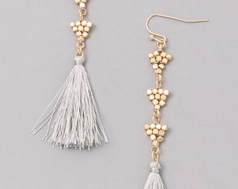 Tassel beaded Chandelier earrings