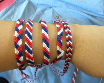 "Bracelet Brazilian, France, collection ""Flags"""