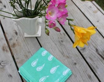 raindrops tea towel