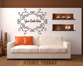 Custom Wall Decals Etsy - Custom vinyl decals wall