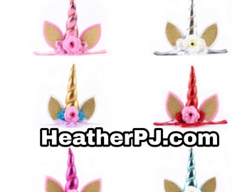 Baby to adult Unicorn headbands