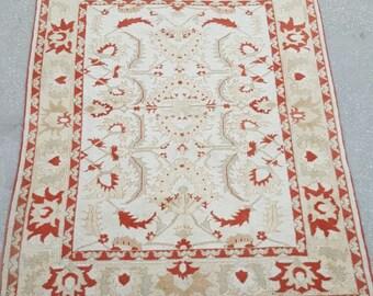6 by 7 rug, Vintage Oushak Rug, Vintage Rug, Oushak Area Rug, Turkish Vintage Rug, Oushak Rug, Area Rug, Kitchen Rug, Boho Rug, Low Pile Rug