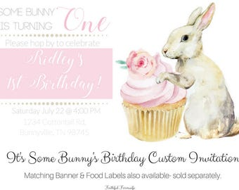 It's Some Bunny's Birthday Invitation
