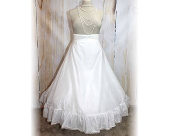 Full Length Crinoline/ Bridal/ Renaissance/ Civil War/ Victorian / VERY FULL SILHOUETTE-Large (BB1)