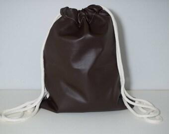 Hand made brown leather like bag