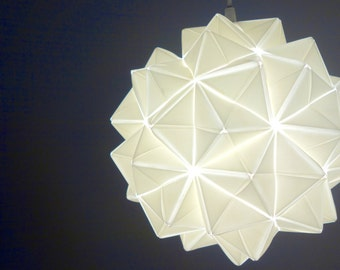 Handmade, Modern, Origami-inspired Lamp/Lighting