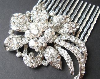 HALF PRICE Sale- Crystal Bridal Hair Comb, Art Deco Hair Comb, Vintage Wedding Hair Comb, Great Gatsby Wedding Hair Accessories, LINDSEY