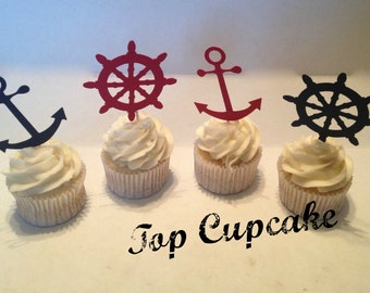 Nautical Themed Cupcake Toppers