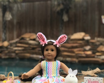 Easter Bunny Dress and Shoes for 18 inch doll