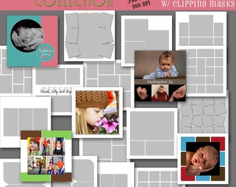 INSTANT Download -  12x12 Storyboard COLLECTION - 20 Custom Photo Templates for Photographers