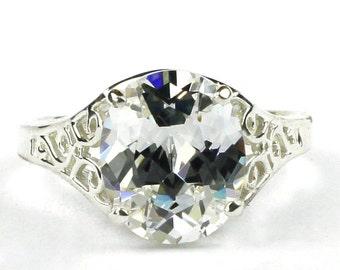 Cubic Zirconia (CZ), 925 Sterling Silver Ladies Ring, SR057