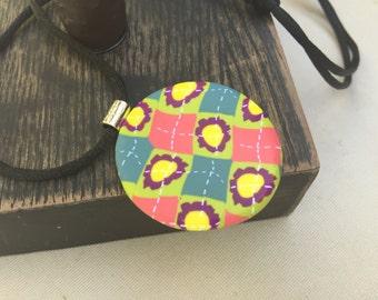 Argyle Flower Polymer Clay Necklace