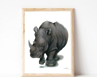 """A3 Rhino Print """"Forever Lost"""""""
