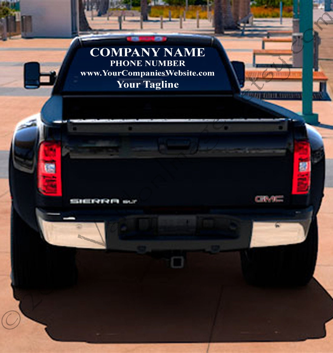 Custom Business Logo Advertising Business Logo Design - Truck decals for back window