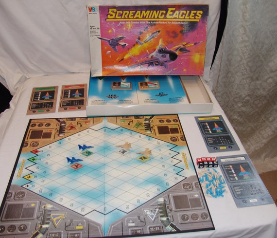 Milton Bradley Screaming Eagles Board Game 1987 Toy Jets