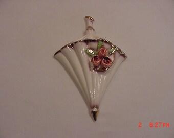 Vintage Ceramic Parasol Or Umbrella Wall Pocket   17 - 1149