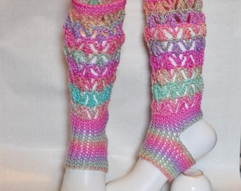 yoga socks pilates socks dance socks gradient color leg warmer Namaste