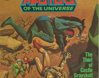 Vintage MASTERS of the UNIVERSE BOOK: The Thief of Castle Grayskull - He-Man - c. 1983 Mattel