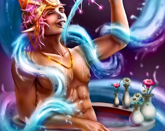 Zodiac Aquarius - Art Print