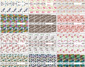 Nail Art Transfer Stickers Water Slide Decals Labels Tattoos Trendy Fashion Popular Style