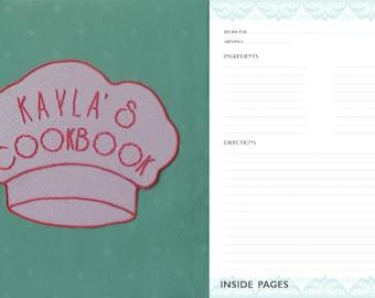 Handmade/Handsewn Personalized Recipe Book Binder in Silk Georgette