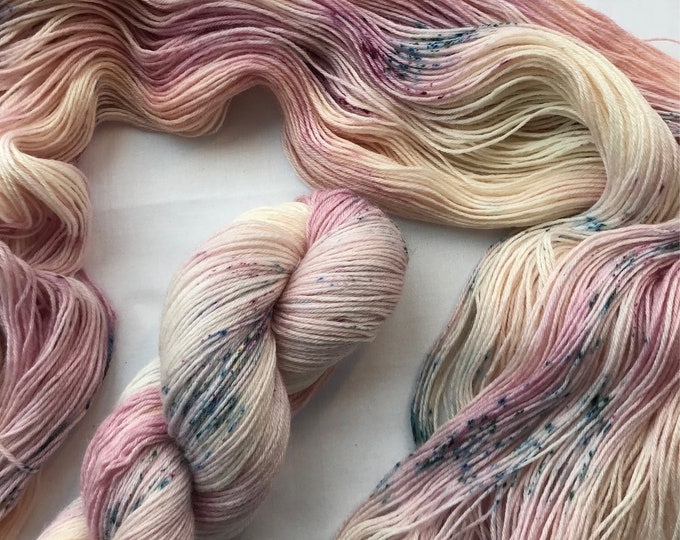 """""""Blossom"""" 100g British Blue Faced Leicester Yarn 4 ply"""
