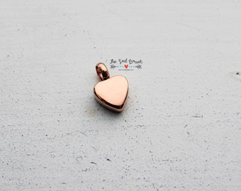 Rose Gold Cremation Urn Charm | Personalized Cremation Jewelry | Cremation Urn Heart | Memorial Jewelry | In Loving Memory | Urn Charm | Ash