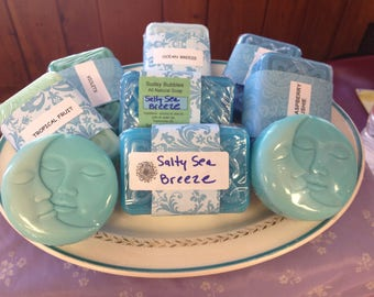 Assortment of goats milk soaps in Ocean Fragrances/ Gift Set of 4