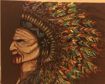 Red Zed the Sioux Original Painting