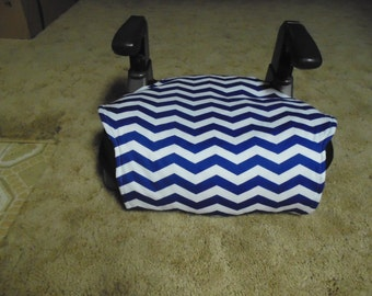 Chevron (royal blue/white)  toddler booster seat cover