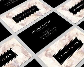 Marble Business Card Design Black Business Card Luxurious Business Card Design